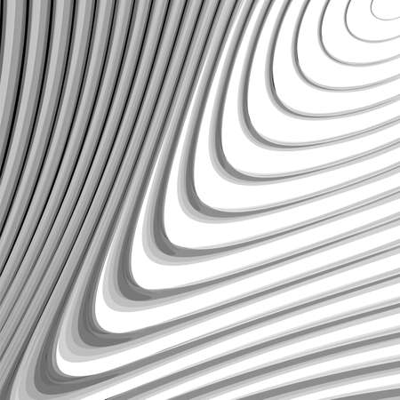 volumetric: Design monochrome whirl lines motion background. Abstract striped distortion backdrop. Vector-art illustration. EPS10 Illustration