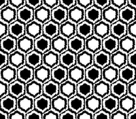 web2: Design seamless monochrome hexagon geometric pattern. Abstract grid background. Vector art