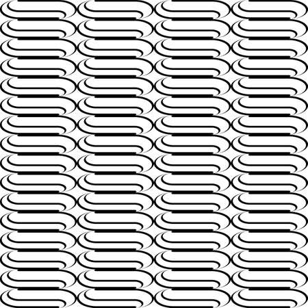 web2: Design seamless monochrome waving pattern. Abstract vertical stripy background. Vector art