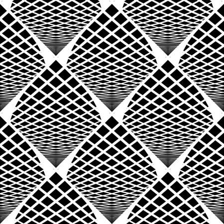 grid pattern: Design seamless monochrome checked geometric pattern. Abstract grid textured background. Vector art