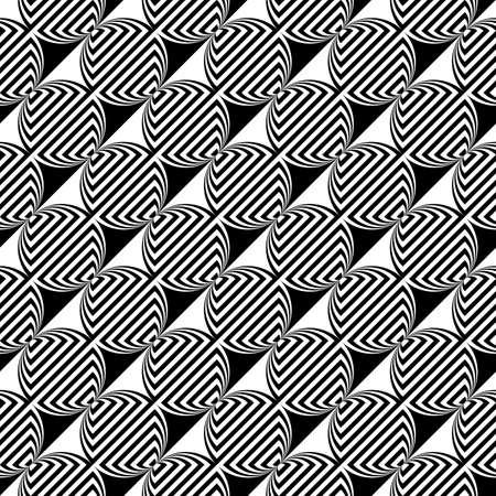 ellipse: Design seamless monochrome ellipse geometric pattern. Illustration