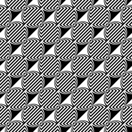 elipse: Diseño blanco y negro sin fisuras patrón geométrico elipse.