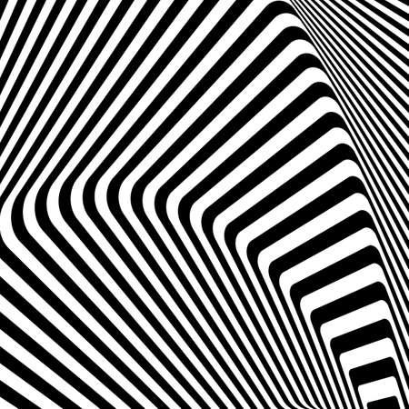 torsion: Design monochrome movement illusion background. Abstract stripe torsion texture. Vector-art illustration