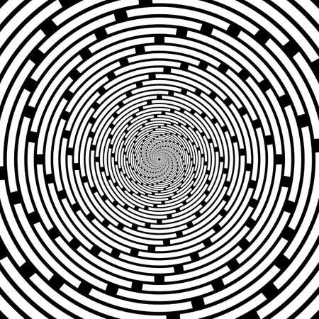 backdrop: Design spiral striped backdrop.  Illustration