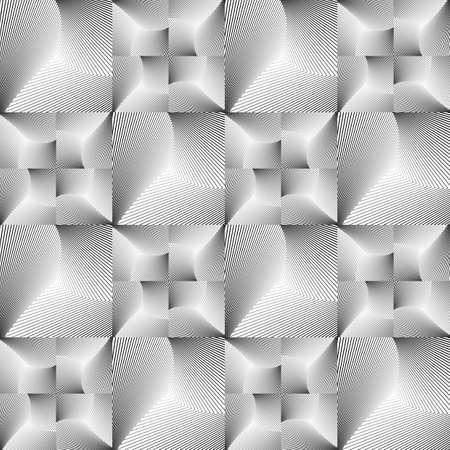 Design seamless tiled geometric pattern.  Illustration