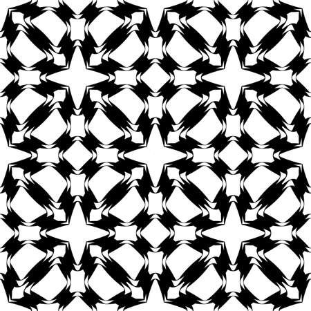 lattice: Design seamless monochrome grid pattern. Abstract geometric lattice background. Vector art Illustration