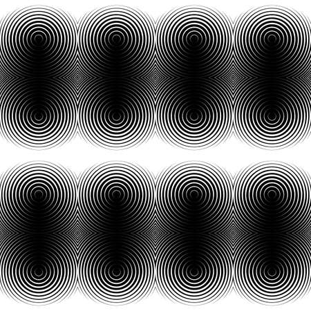 salient: Design seamless monochrome ellipse pattern. Abstract textured background. Vector art. No gradient Illustration
