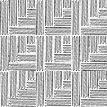 wattle: Design seamless monochrome interlaced pattern. Abstract doodle textured background. Vector art. No gradient