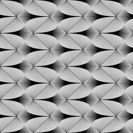 zigzag: Design seamless zigzag geometric pattern. Abstract monochrome waving lines background. Vector art. No gradient Illustration