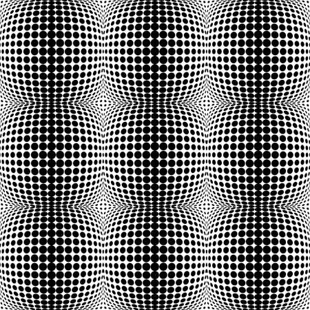 convex: Design seamless monochrome dots background. Abstract convex pattern. Vector art. No gradient Illustration