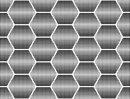 Design seamless monochrome dots background. Abstract hexagon pattern. Vector art. No gradient