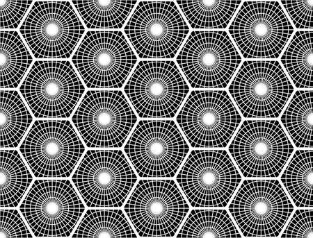 grid pattern: Design seamless monochrome hexagon pattern. Abstract grid textured background. Vector art. No gradient