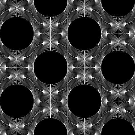 elipse: Dise�o blanco y negro sin fisuras patr�n decorativo elipse. Red abstracta con textura de fondo. Vector el arte. No degradado