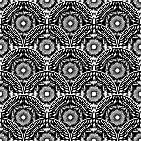 elipse: Design seamless monochrome ellipse background. Abstract strip geometric pattern. Vector art. No gradient