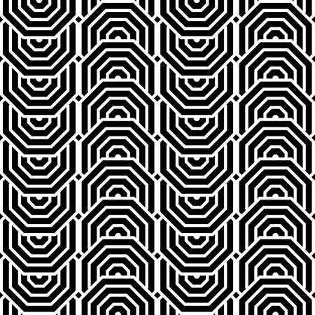 Design seamless monochrome zigzag geometric pattern. Abstract vertical stripy background. Vector art