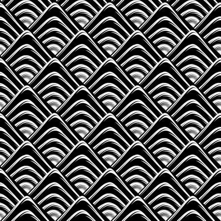 no gradient: Design seamless monochrome geometric pattern. Abstract grid textured background. Vector art. No gradient