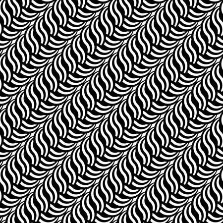 wattle: Design seamless monochrome interlaced pattern.