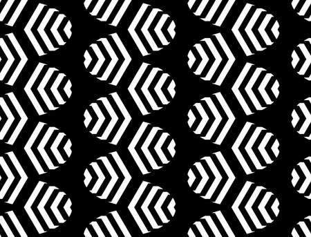 monochrome: Design seamless monochrome zigzag pattern.  Illustration