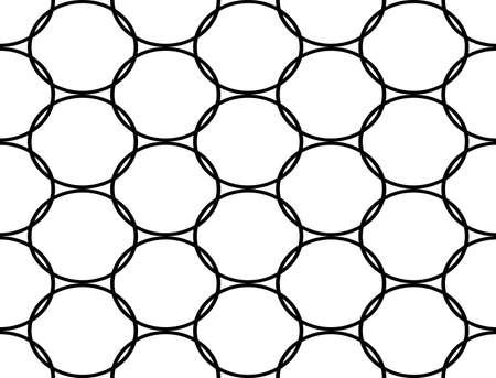 elipsy: Design seamless monochrome ellipse pattern.  Ilustracja