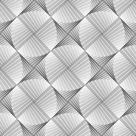 ellipse: Design seamless ellipse geometric pattern. Abstract monochrome waving lines background.
