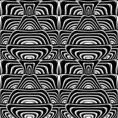 deform: Design seamless monochrome waving pattern.
