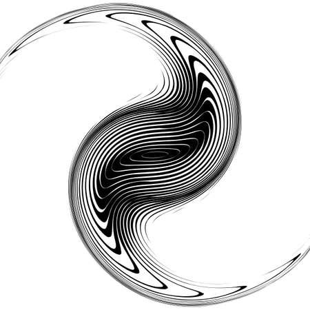 movement: Design monochrome whirlpool movement background.   Illustration