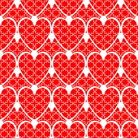 web2: Design seamless red heart background. Valentines Day pattern. Vector art