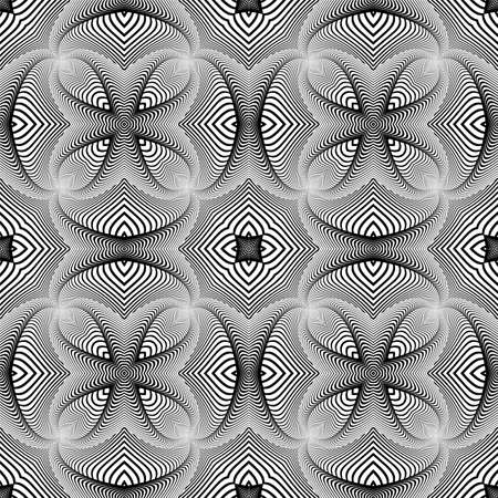 web2: Design seamless monochrome striped pattern. Abstract decorative background. Vector art. No gradient