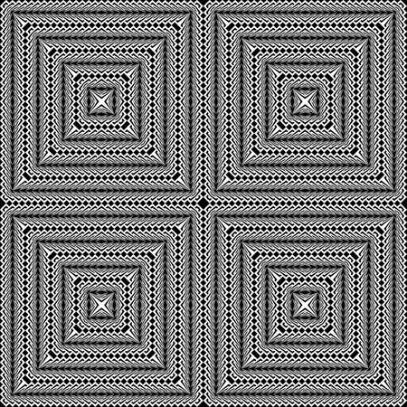 checkered volume: Design seamless monochrome square pattern. Abstract textured background. Vector art. No gradient