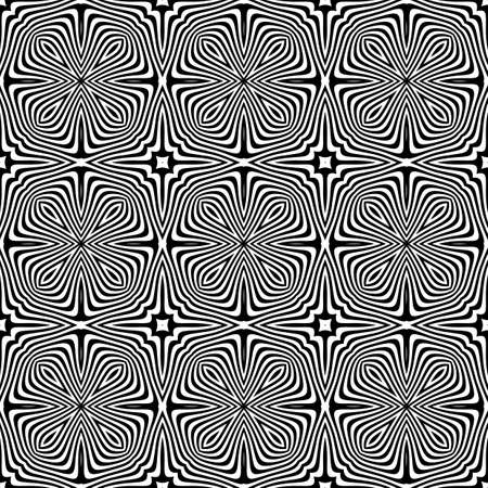 torsion: Design seamless monochrome striped background. Abstract lines torsion texture. Vector art