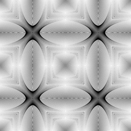 ellipse: Design seamless monochrome ellipse pattern. Abstract geometric background. Vector art. No gradient Illustration