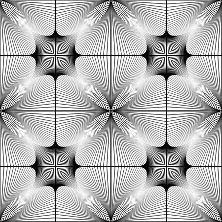 no gradient: Design seamless monochrome geometric pattern. Abstract lines textured background. Vector art. No gradient