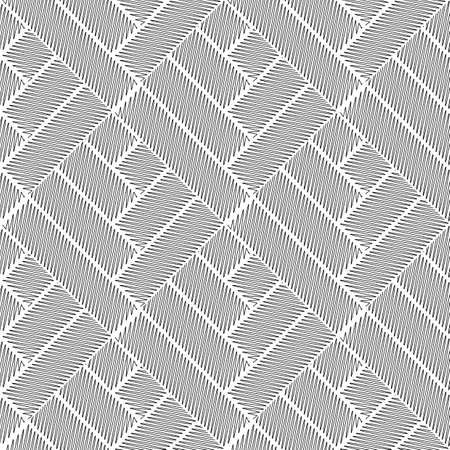 abstract doodle: Design seamless monochrome interlaced pattern. Abstract doodle textured background. Vector art. No gradient