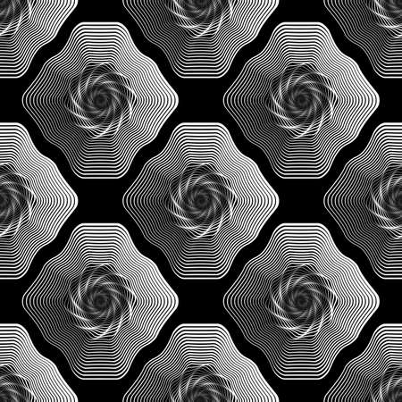 salient: Design seamless monochrome geometric pattern. Abstract stripy background. Vector art. No gradient Illustration