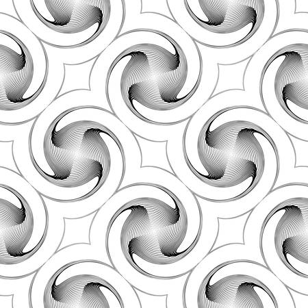 no movement: Design seamless monochrome twirl movement background. Abstract decorative pattern. Vector art. No gradient