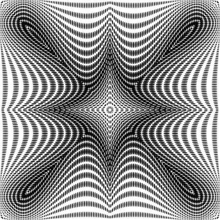 no gradient: Design monochrome symmetric dots background. Abstract waving backdrop. Vector-art illustration. No gradient