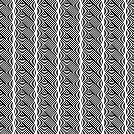 wattle: Design seamless monochrome striped pattern. Abstract vertical background. Vector art Illustration