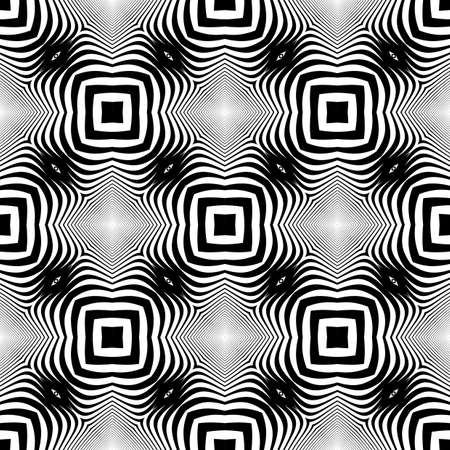 no gradient: Design seamless monochrome geometric pattern. Abstract striped background. Vector art. No gradient