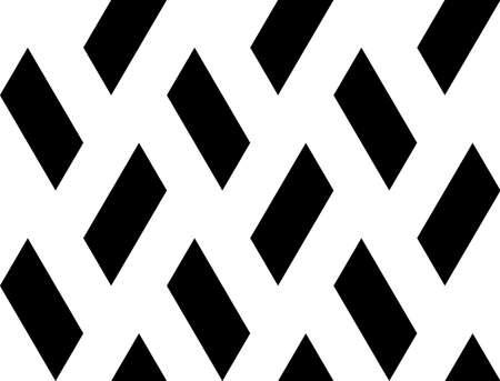 parallelogram: Design seamless quadrangle geometric pattern. Abstract monochrome background. Vector art Illustration