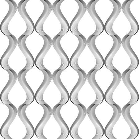 twisting: Design seamless monochrome twisting pattern. Abstract warped textured background