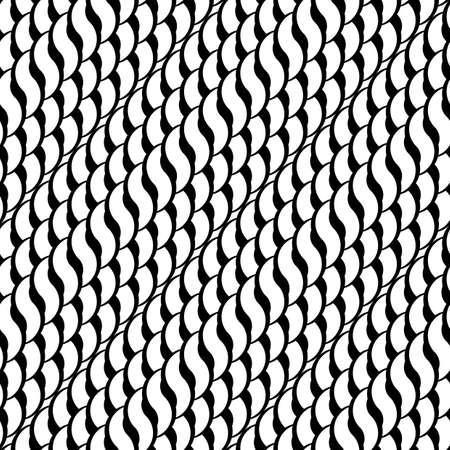 wattle: Design seamless monochrome interlaced pattern. Abstract diagonal stripy background