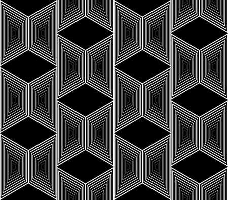 trapezium: Design seamless monochrome trapezium geometric pattern. Abstract striped zigzag background