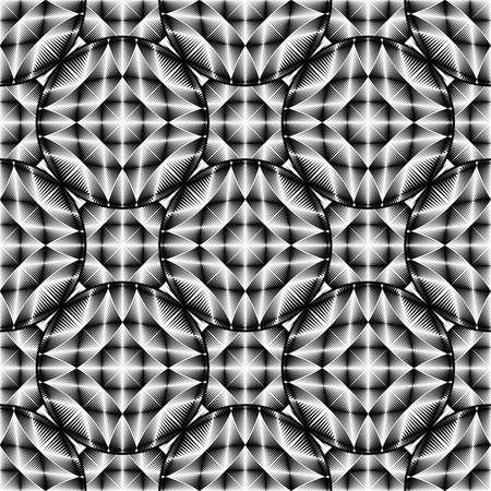 elipse: Patrón de diseño elipse monocromo sin fisuras. Fondo geométrico abstracto Vectores