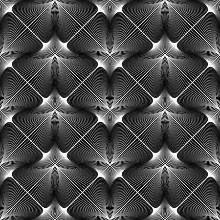 diamante negro: Design seamless monochrome geometric pattern. Abstract lines textured background
