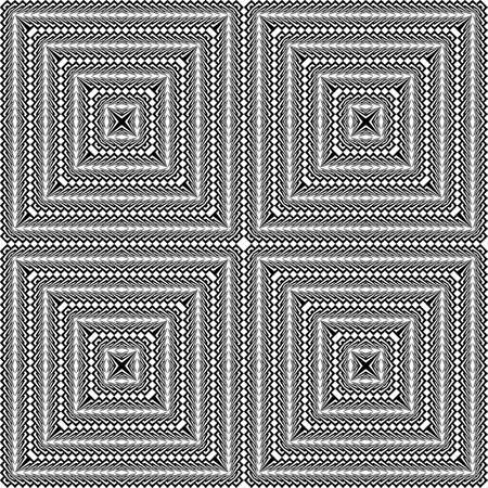 checkered volume: Design seamless monochrome square pattern. Abstract textured background