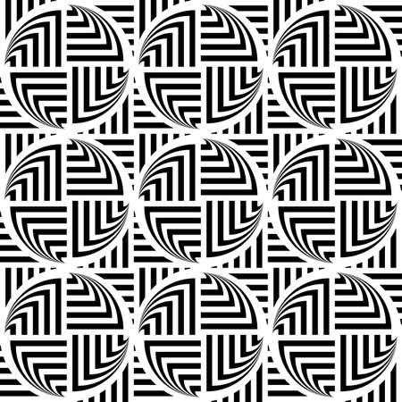 elipse: Design seamless monochrome ellipse geometric pattern. Abstract striped background