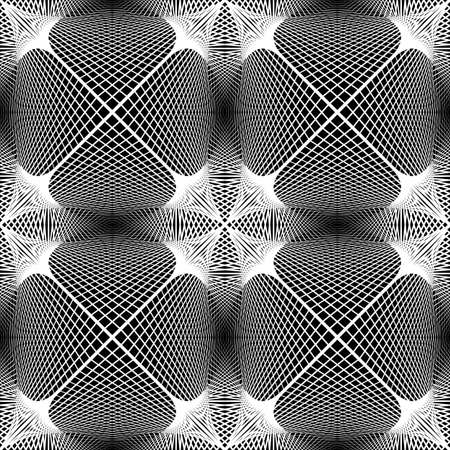grid background: Design seamless monochrome decorative pattern. Abstract grid textured background Illustration