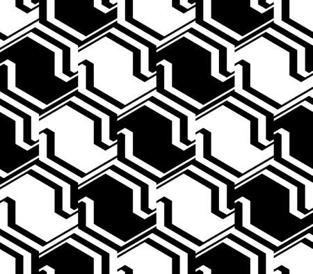 zigzag: Design seamless monochrome zigzag geometric pattern. Abstract striped diagonal background Illustration