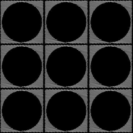 elipse: Diseño blanco y negro sin fisuras patrón geométrico elipse. Fondo abstracto del doodle. Arte del vector. No degradado Vectores