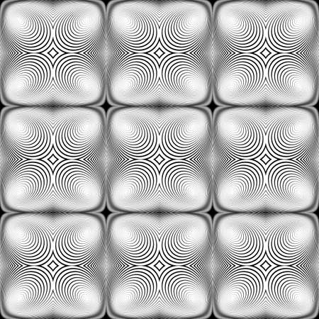 pyramidal: Design seamless monochrome ellipse background. Abstract stripe torsion texture. Vector art. No gradient